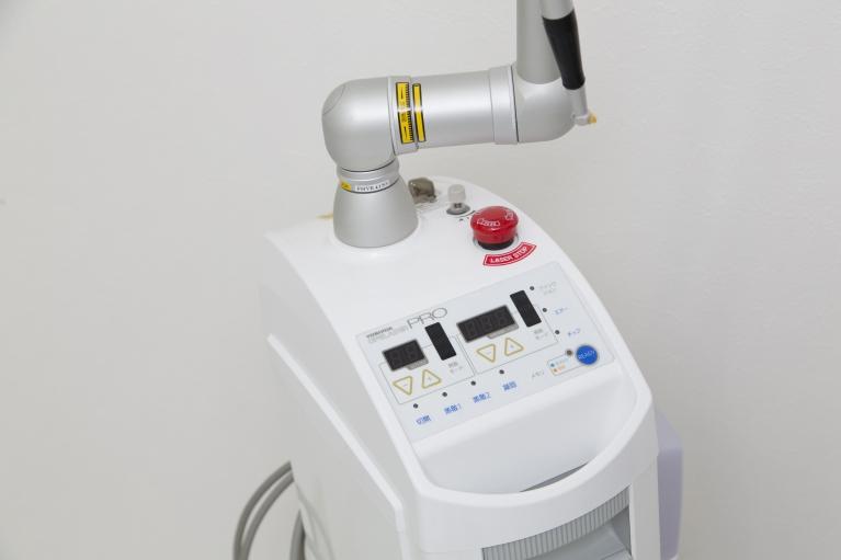 痛み・出血が少ないCO2(炭酸ガス)レーザー
